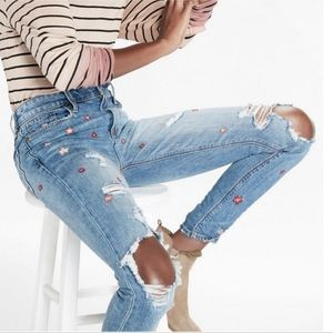 Lucky Brand Bridgette Skinny Distressed jeans 10